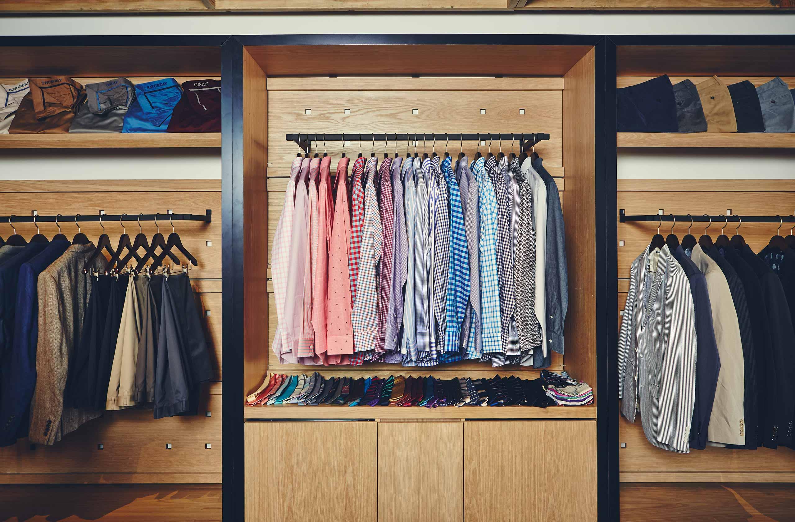 Bonobos shirts in a closet