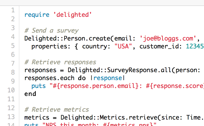 trigger email surveys via REST API