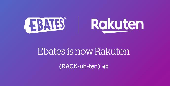 Ebates rebranding to Rakuten