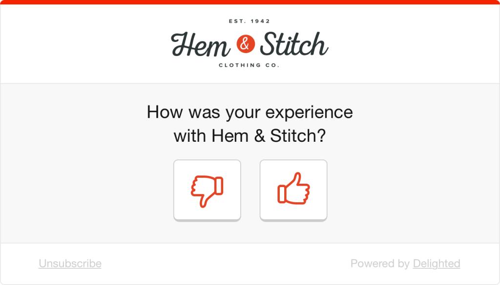 Visual survey example: thumb survey