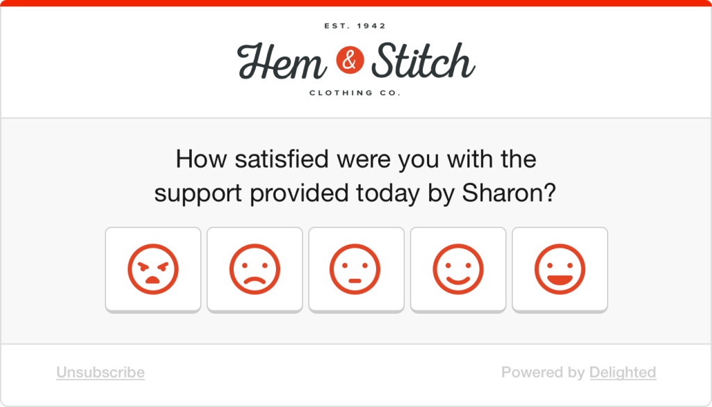 Retail smileys survey: How satisfied were you with the support provided by Sharon?