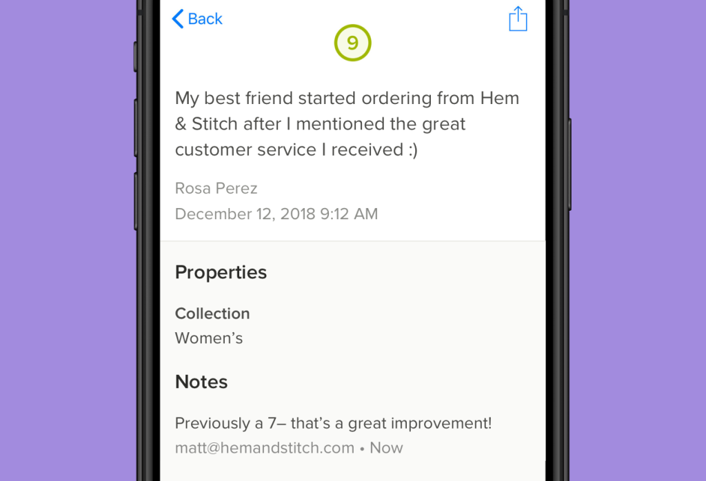 Delighted Customer Experience iOS app