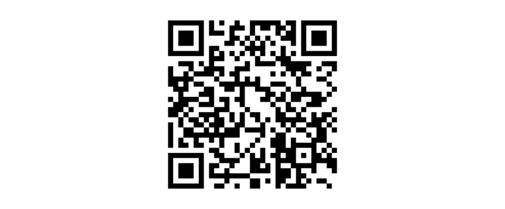 A QR code to scan with your camera phone to access a customer survey