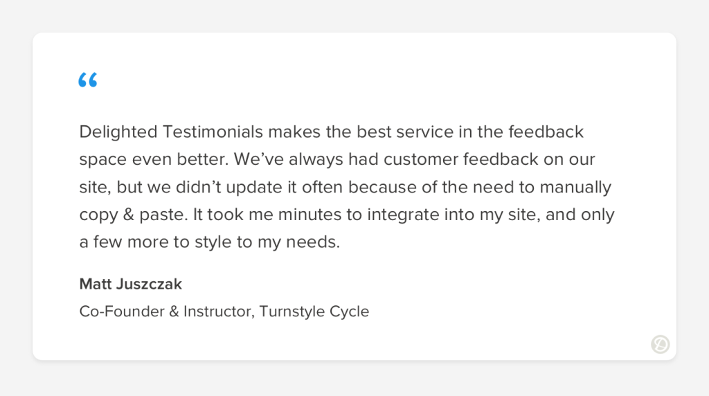 Example of a customer testimonial used as social proof