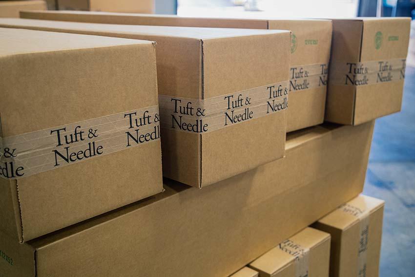 Tuft & Needle shipping boxes