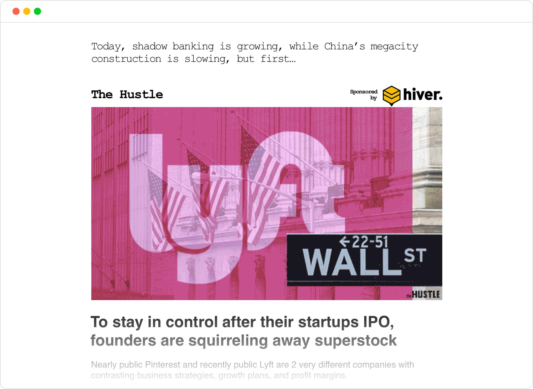 the Hustle headline