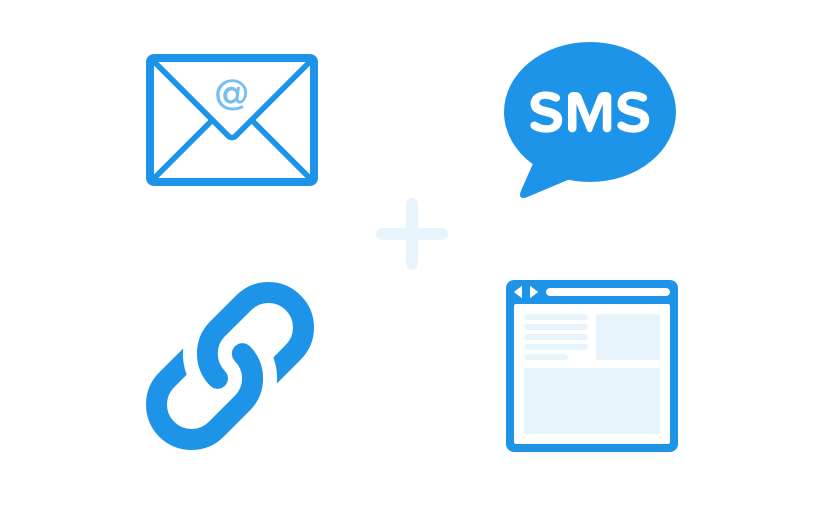 send surveys via email, sms, link, web, and in-app