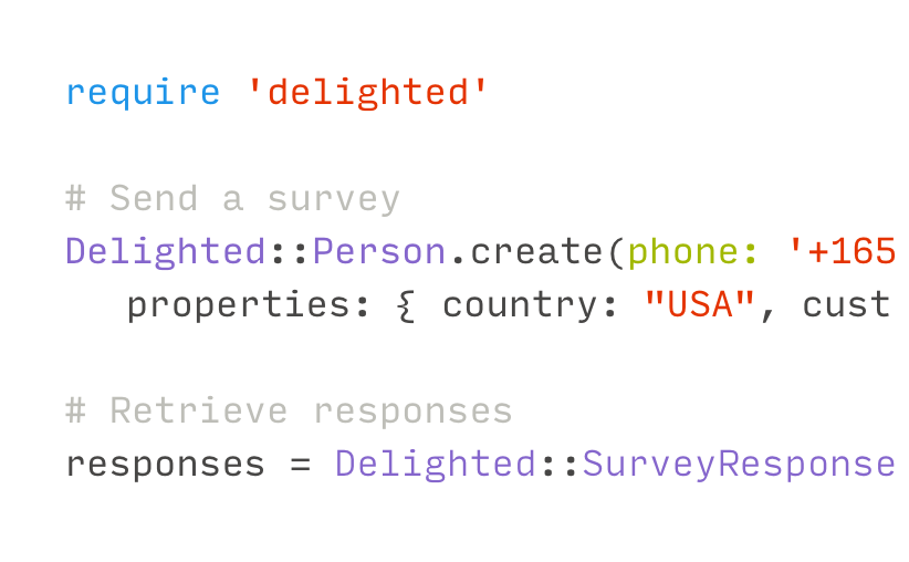 trigger surveys via REST API