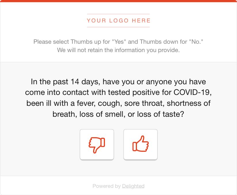 COVID health screening survey
