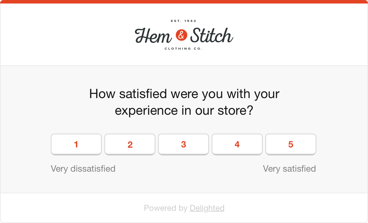 store satisfaction survey
