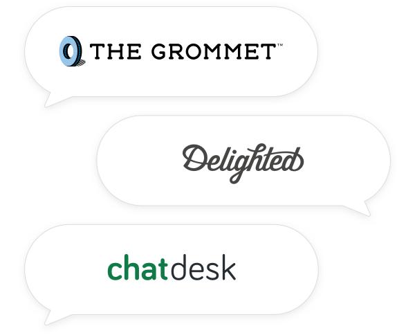 the grommet delighted chatdesk logos