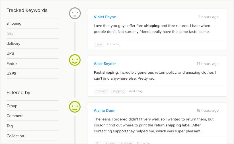 analyze sms feedback in a dashboard