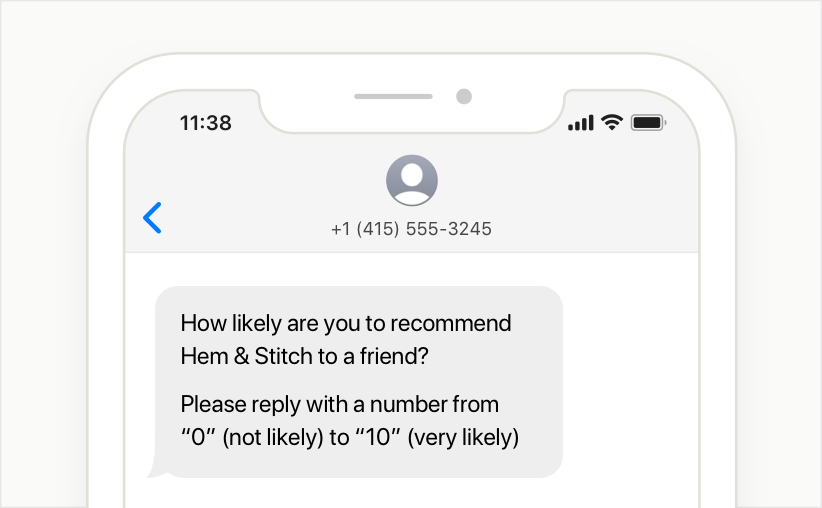 localize the text survey phone number