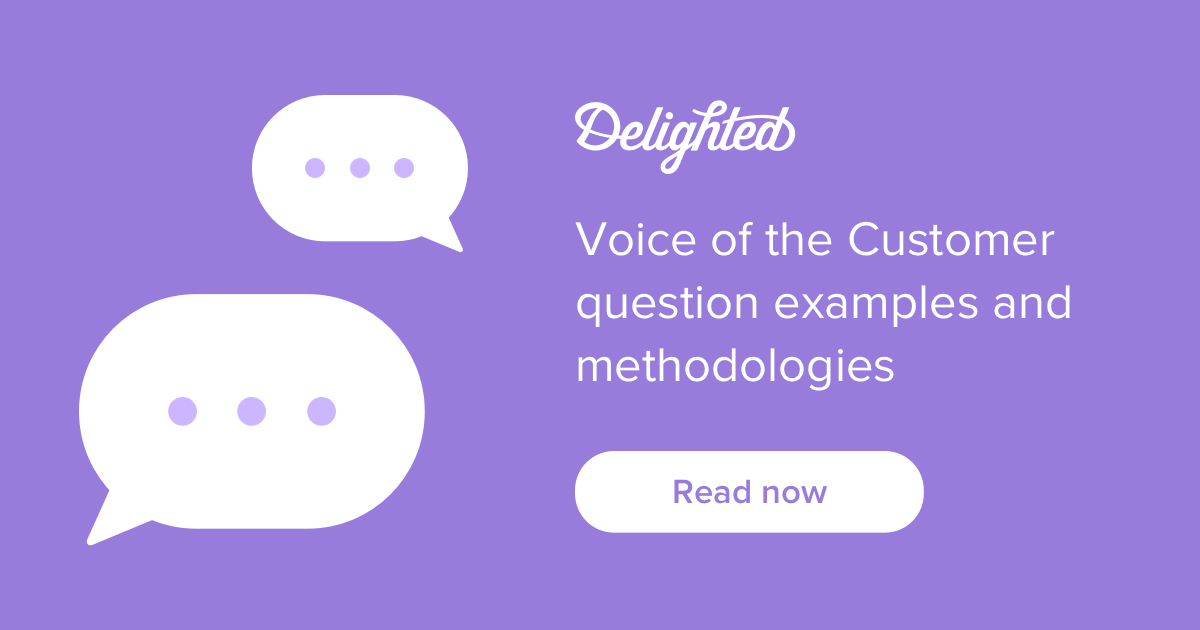 voice of the customer question examples and methodologies
