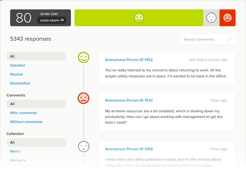 employee pulse survey dashboard