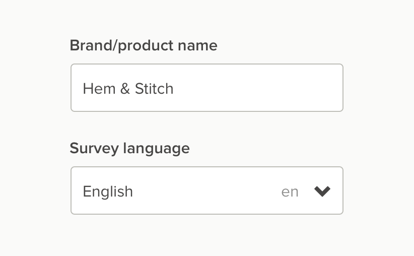 free customer survey language