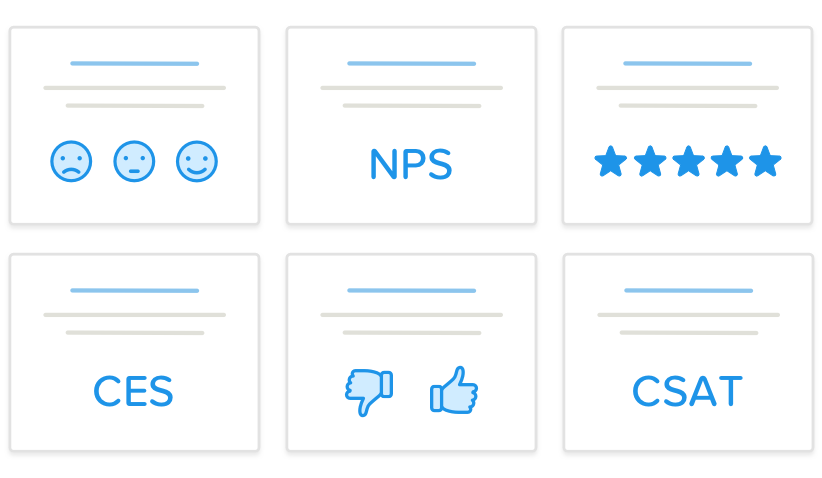 smiley nps star csat thumbs and ces survey templates