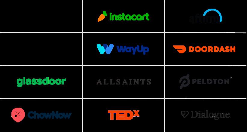 Delighted customer logos
